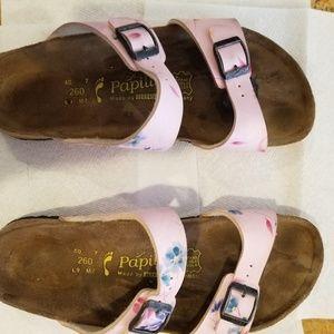 Birkenstock Papillio Sandals Sz 40 L 9 Pink Floral